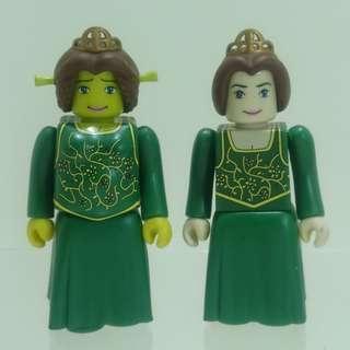 Shrek 史力加 Kubrick 費安娜公主 2隻