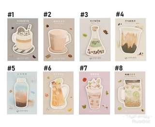 Cute Drinks and Desserts Sticky Note / Post it / Memo