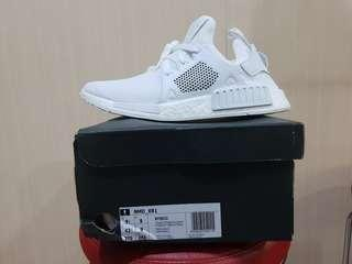 Adidas NMD XR1 triple white leather cage