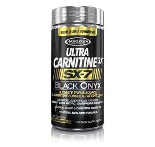 🚚 🔥NEW Muscletech ULTRA CARNITINE 3X SX-7 BLACK ONYX