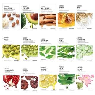 The Face Shop Nature Collection Masks