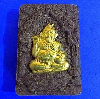 Famous Real Gold Phra Kumanthep added with Lp Dum Hair Be2540 - mainstream no need offerings !