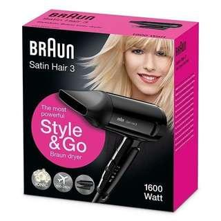 Braun Satin 3 HD350 Hair Dryer