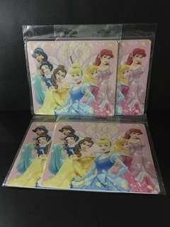4 Pcs Princess Pink Girls Mousepad Coaster Matt Table Mat Dish Placemat Pad Christmas Gift
