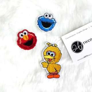 🚚 Iron On Patch | Sesame Street Mini | Elmo, Cookie Monster, Big Bird