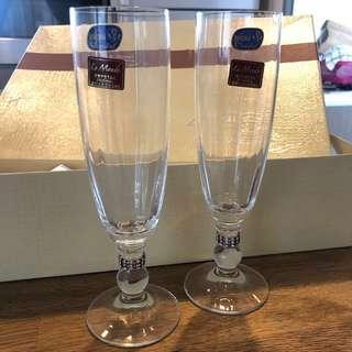 Le Monde cadeaux Bohemia Crystal champagne flutes