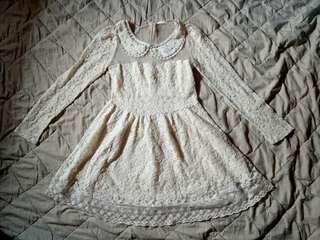 Lolita White Lace Dress