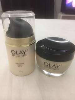 Olay total effects day cream and night cream