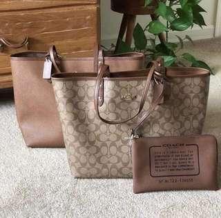 Sale! Coach reversible tote bag