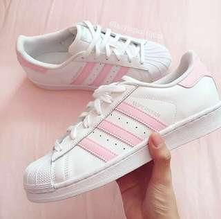 Adidas Superstar Shoes In Pink