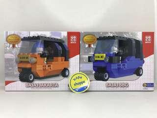 Emco Brix Seri Indonesia Bajaj Orange dan Bajaj Biru BBG Limited Edition