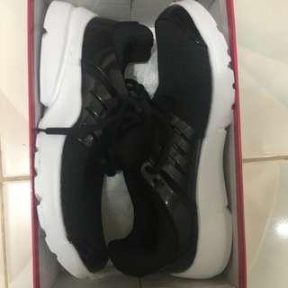 Rubber Shoes Black and White Kicks
