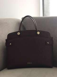 FURLA Agata Leather Medium (Burgundy)