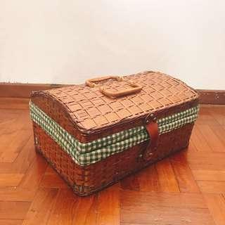 Big Rattan Picnic Basket
