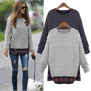 Long sleeve thick Blouse