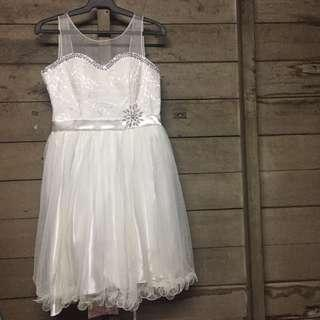 For rent - White dress for cotillions, weddings, & etc.