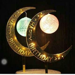 熱賣中!!月亮燈-蛋糕裝飾燈