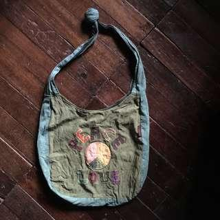 Peace and love shoulder bag