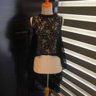 NP2 Black Lace Top (Brand New) (Fashion Wanita)