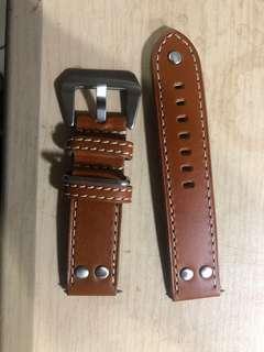 買錯錶帶便宜賣真皮22mm超全新...因為只試一次