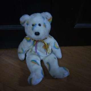 TY Cherry Beanie Baby Sunshine Rainbow Bear/ Soft toy #xmas50