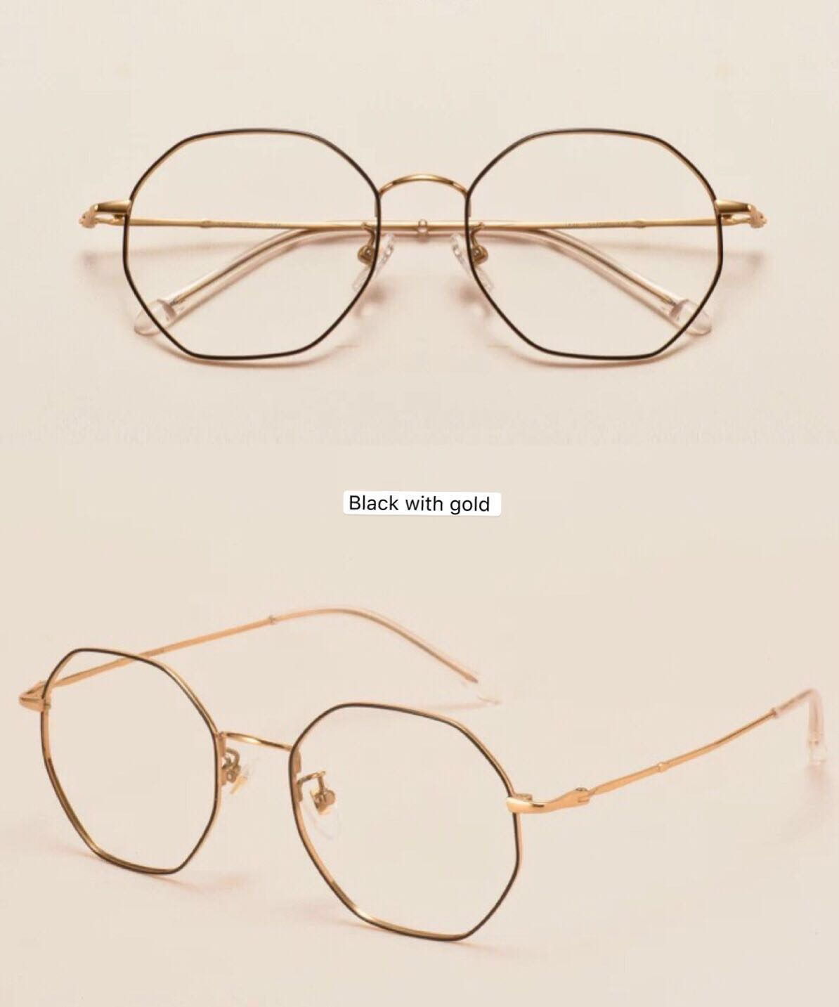 49e3a1b637 (8001)New trendy Octagon shape spectacle from Korea