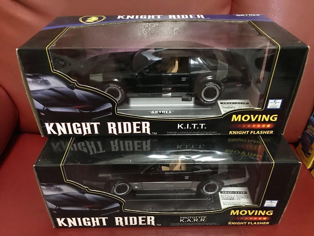 Aoshima 1/18 knight Rider KITT & KARR diecast model cars