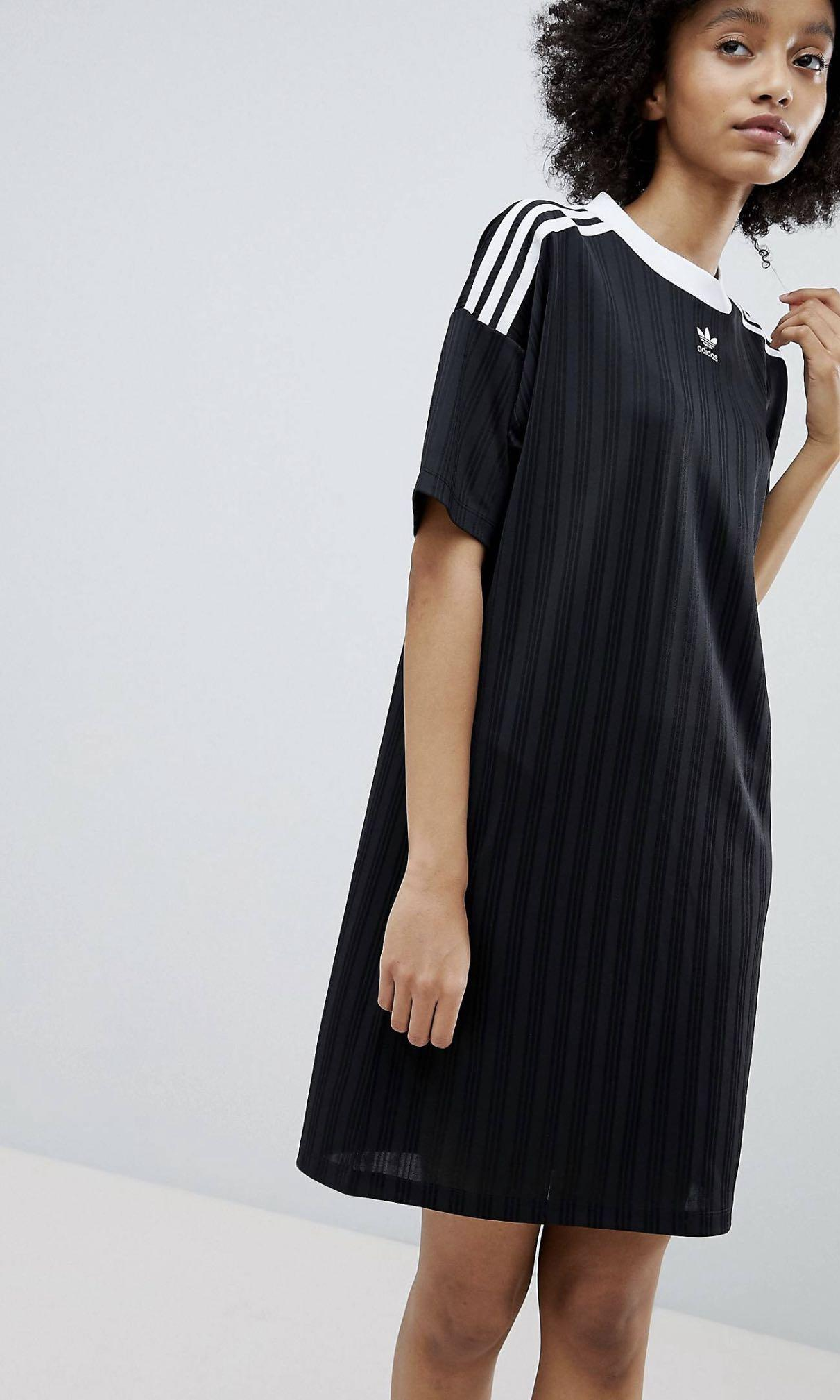 a8ed32f7 asos adidas originals adicolor three stripe dress in black, Women's ...