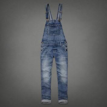 26dd491fa16 Authentic Abercrombie   Fitch ANF Allie Distressed Denim Overalls XS ...