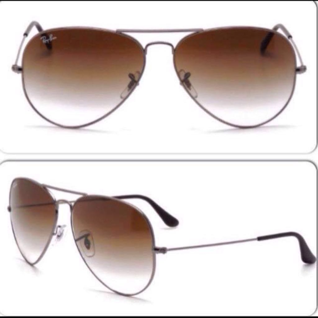 67e3d204ec7ee Authentic Ray-Ban Aviator Large Metal Grey RB3025 004 51 62-14 Large ...