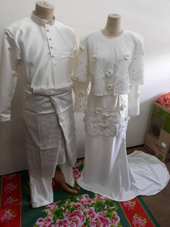 Baju nikah pengantin lelaki dan perempuan 66e07f28da