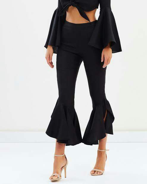 Bardot Black Formal 'Mermaid Flare Leg' Pants in Size 8