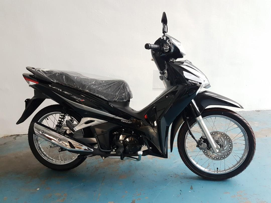 Brand New 2019 Honda Wave 125 Black Motorbikes