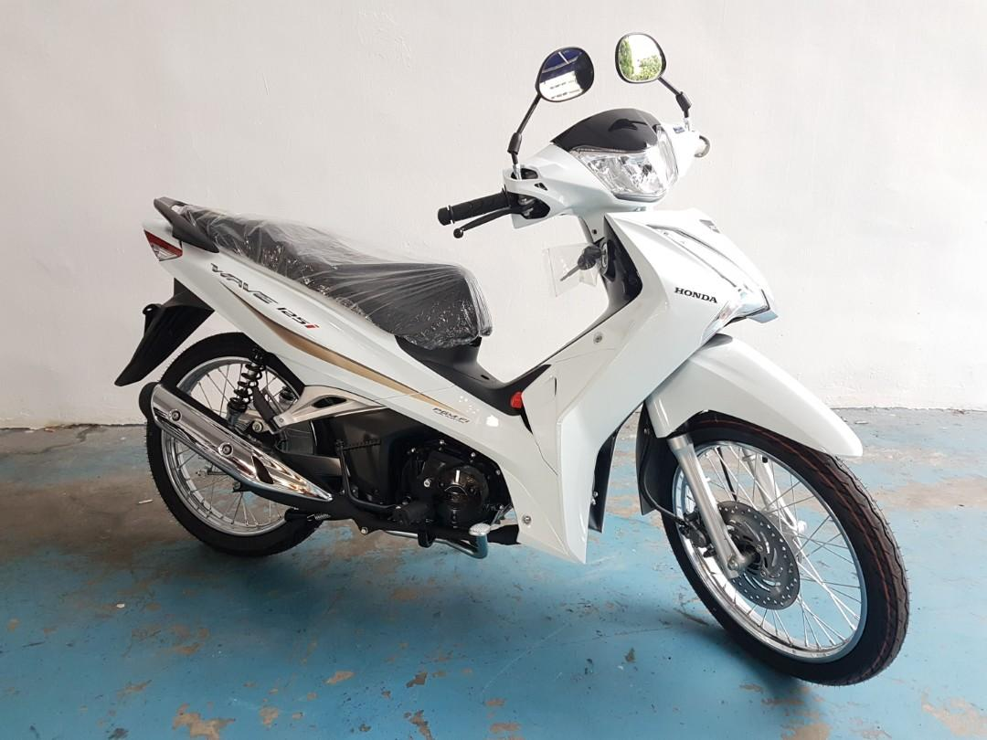 Brand New 2019 Honda Wave 125 White Motorbikes