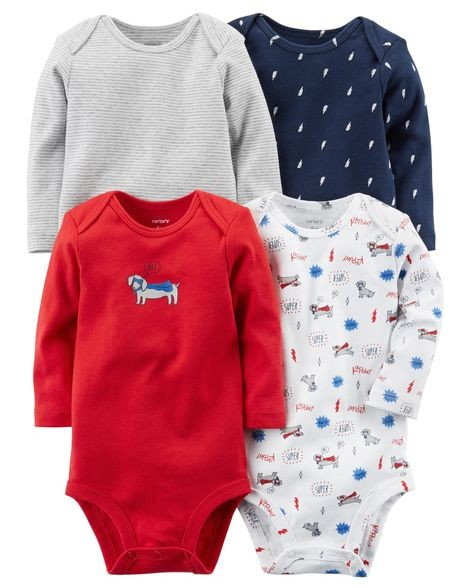 20f1912f9 Brand New Instock Carter's 4 Pc Long Sleeve Rompers Bodysuits ...
