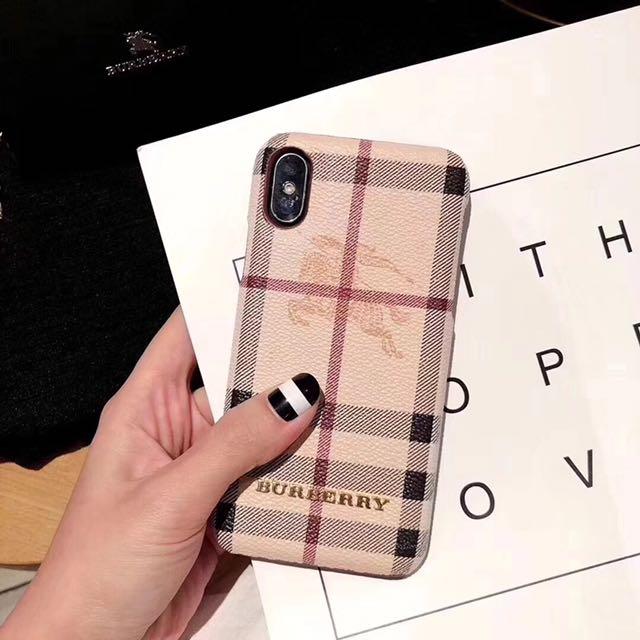 brand new f6923 81fb1 Burberry iPhone X case