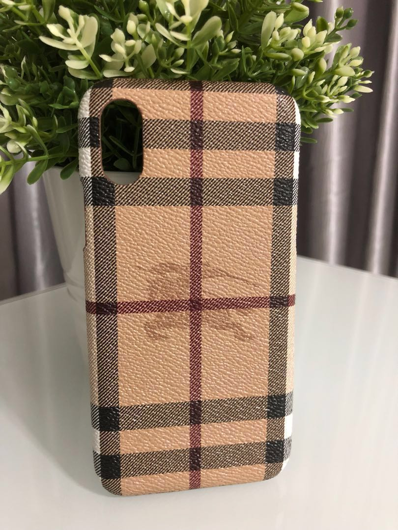 the best attitude 9ecbc bbd71 Burberry iPhone X Case - Ready Stock [Free Postage/Meet-up]