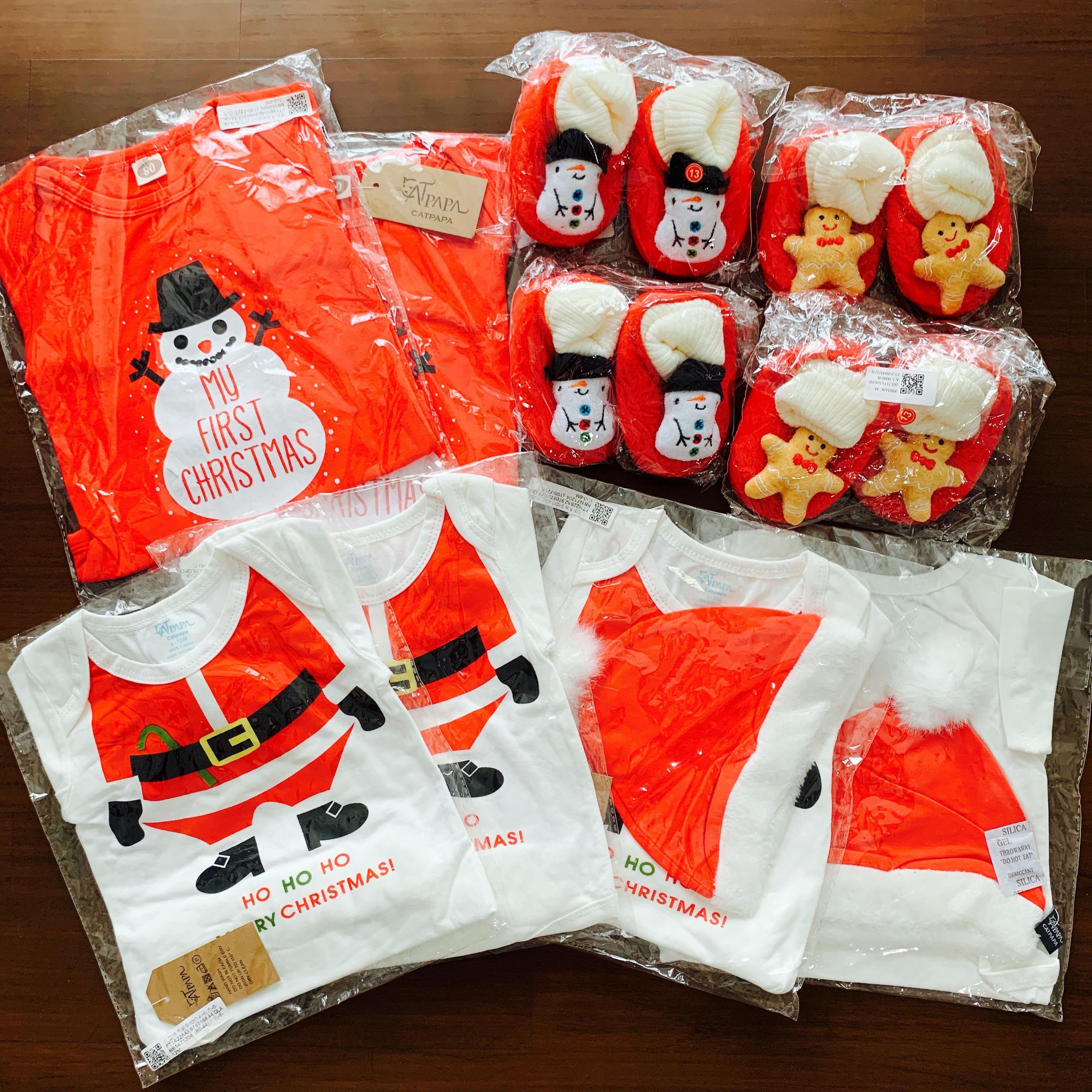 567ed9790e5f2 Christmas baby apparel - romper/ booties/ santa hat, Babies & Kids ...