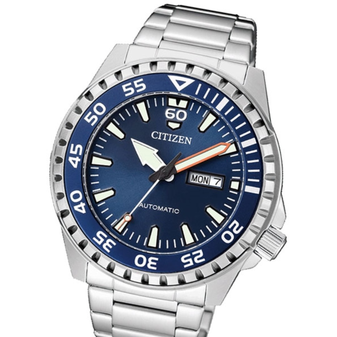 062b71168f0 CITIZEN AUTOMATIC SPORT WATCH WITH STAINLESS STEEL BRACELET NH8389 ...