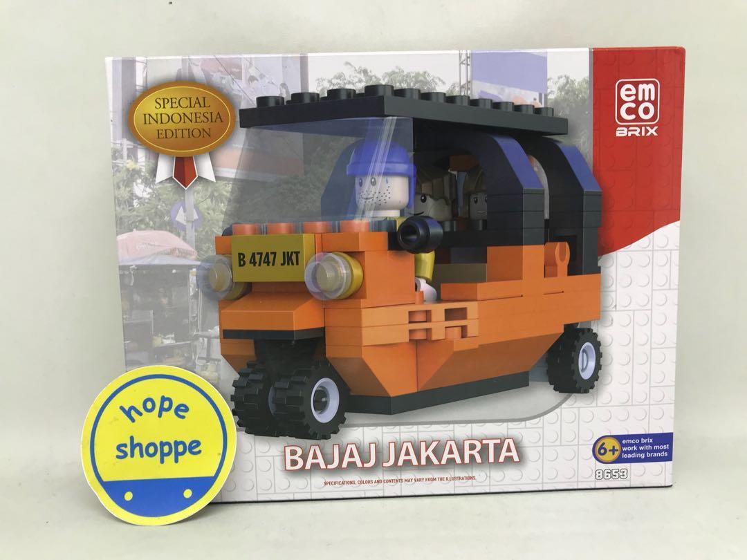 Emco Brix Seri Indonesia Bajaj Orange dan Bajaj Biru BBG Limited Edition