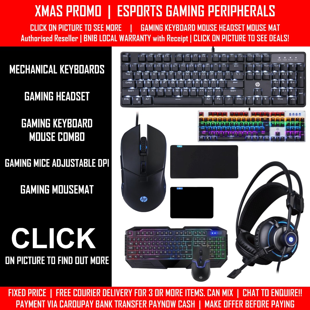02f268a3424 ESPORTS GAMING PERIPHERALS MECHANICAL RGB KEYBOARD MOUSE MOUSEPAD ...