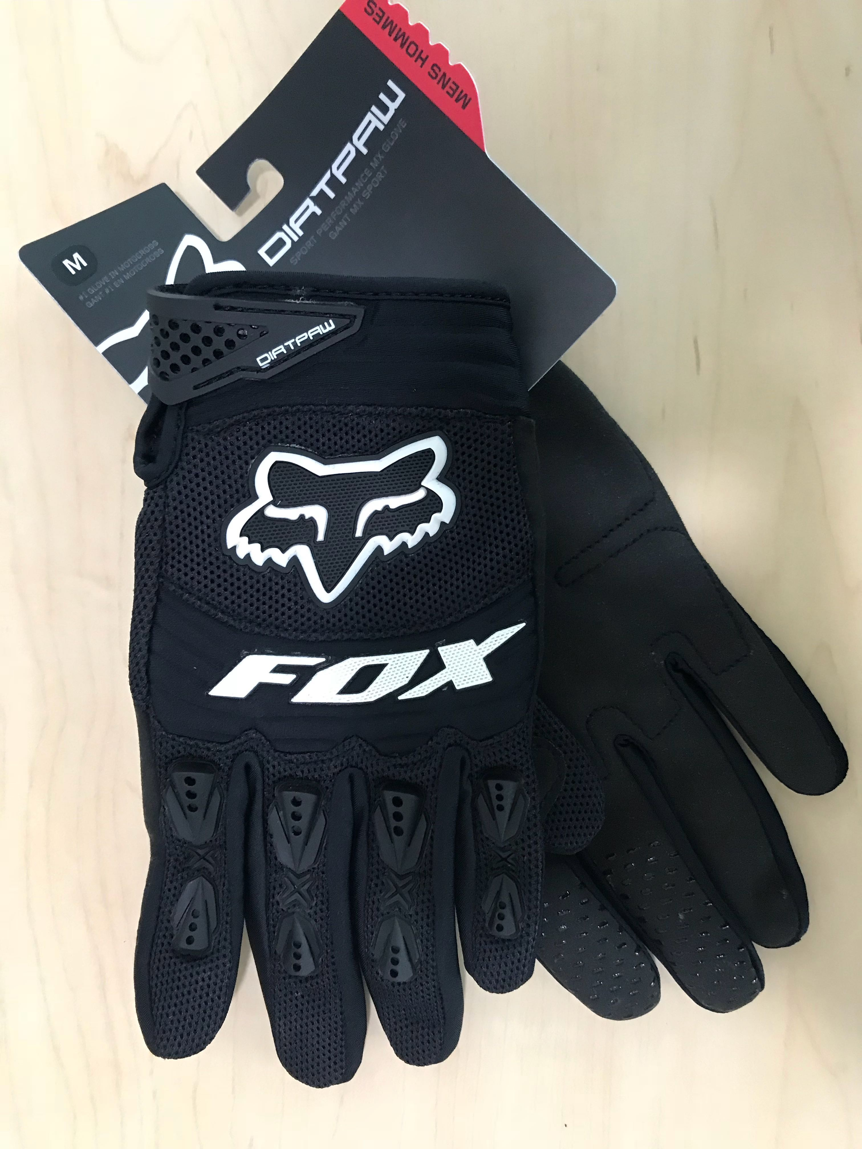 FOX MENS DIRT PAW RACE GLOVE SPORT MX PERFORMACE 2X LARGE WHITE HOMMES GLOVE MX