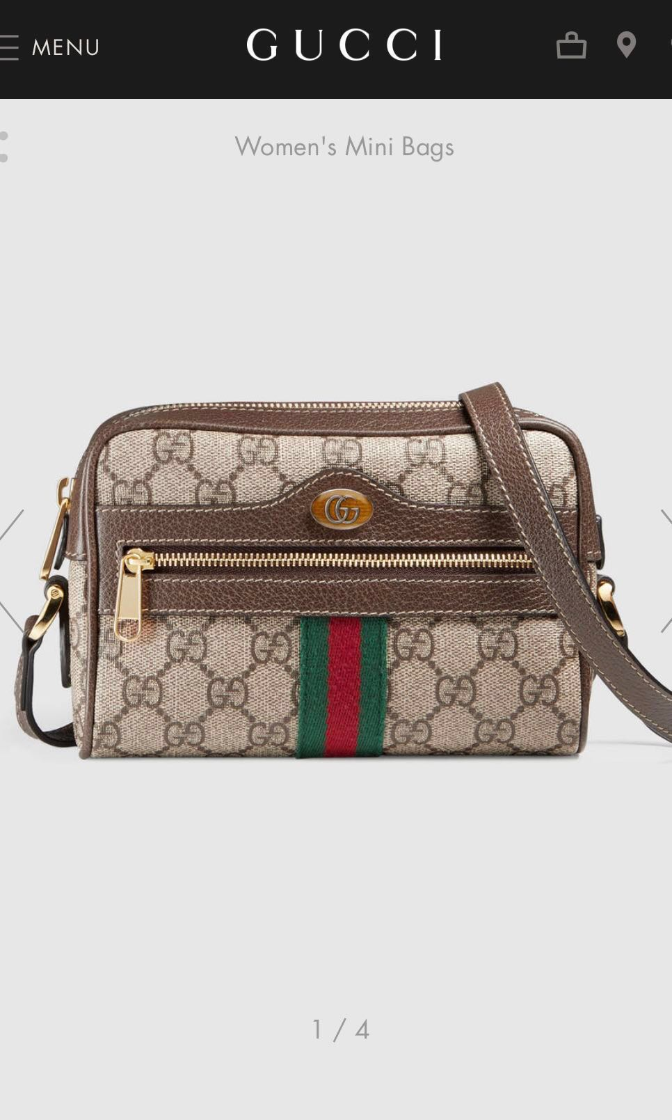 62e800b75c34 Gucci Ophidia GG Supreme Mini Bag, Luxury, Bags & Wallets, Handbags ...