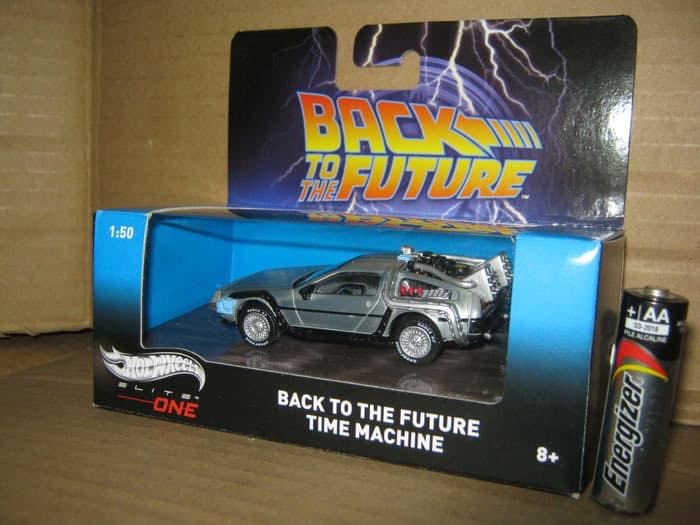 Hot Wheels Elite One Back To The Future Delorean 1 50 Scale Toys