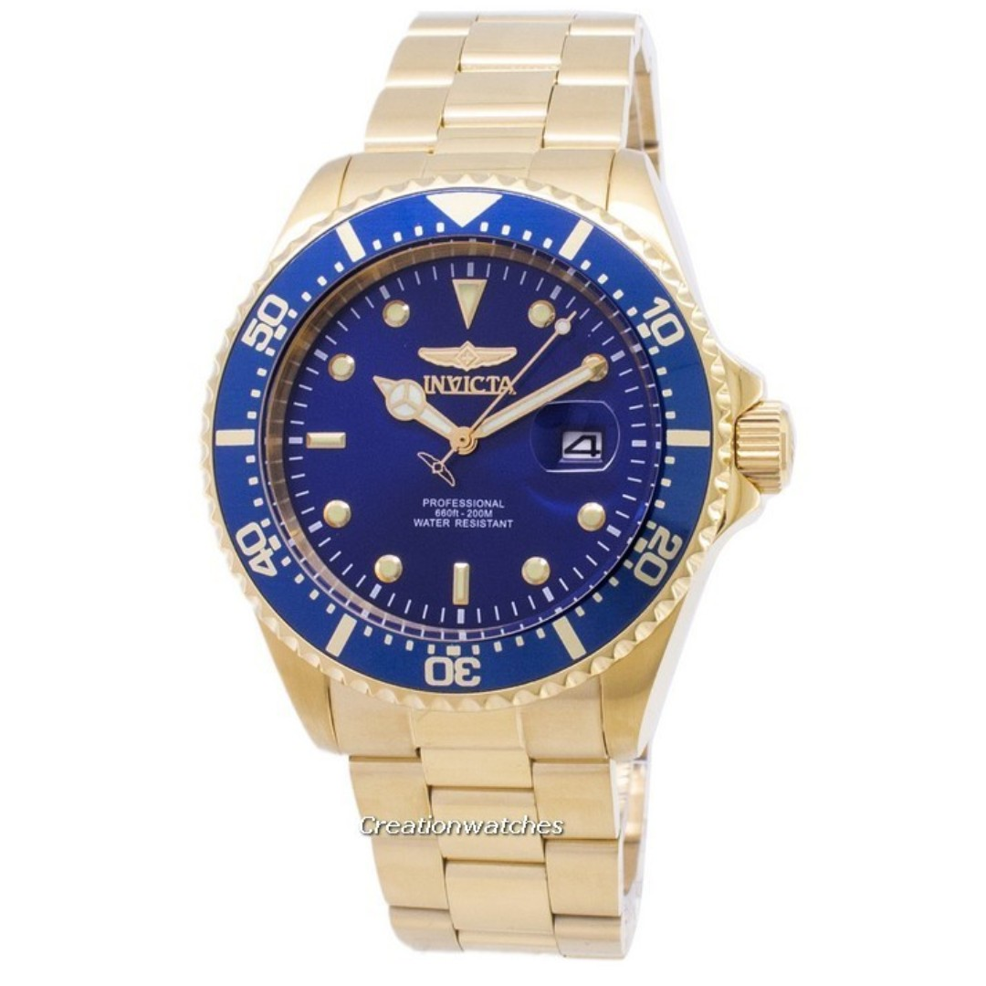 8e8b765dc Invicta Pro Diver 22063 Professional Quartz 200M Men's Watch, Men's ...