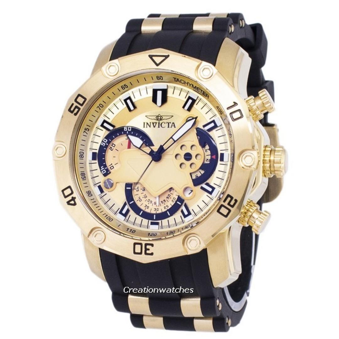 534aaa6d2 Invicta Pro Diver 23427 Chronograph Quartz Men's Watch, Men's ...