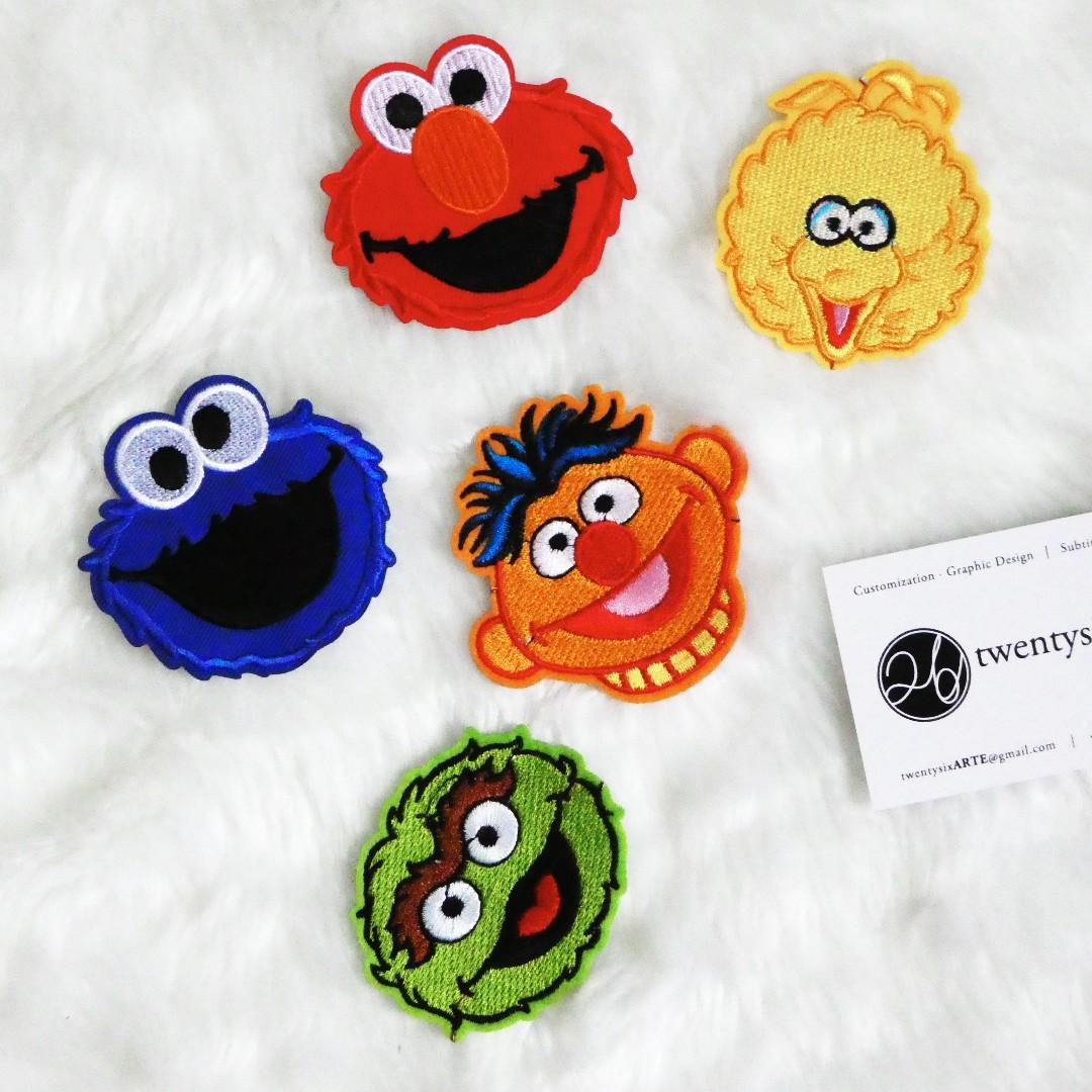 Iron On Patch | Sesame Street | Elmo, Cookie Monster, Big Bird, Ernie, Oscar