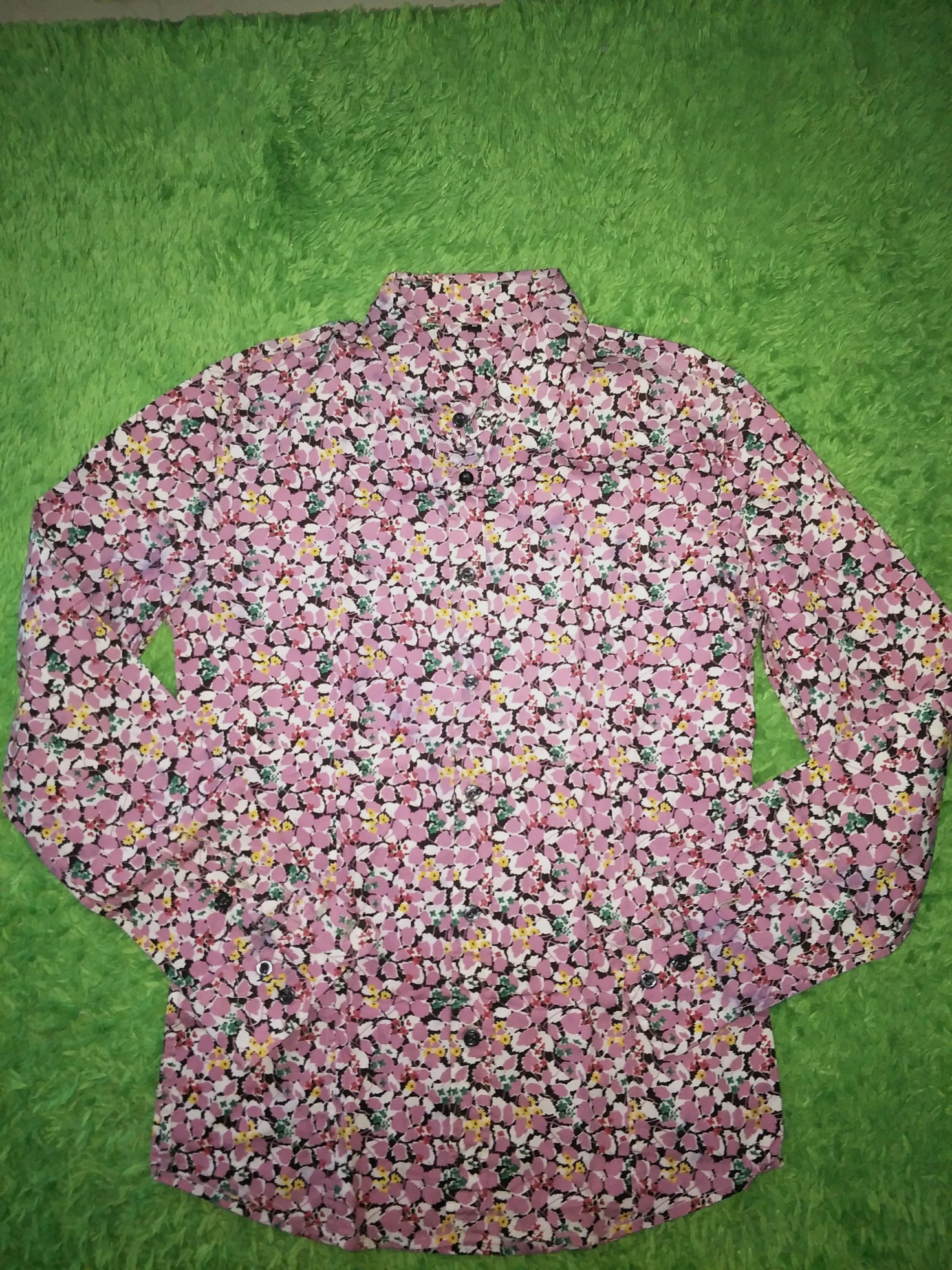 Kemeja floral kemeja bunga pria