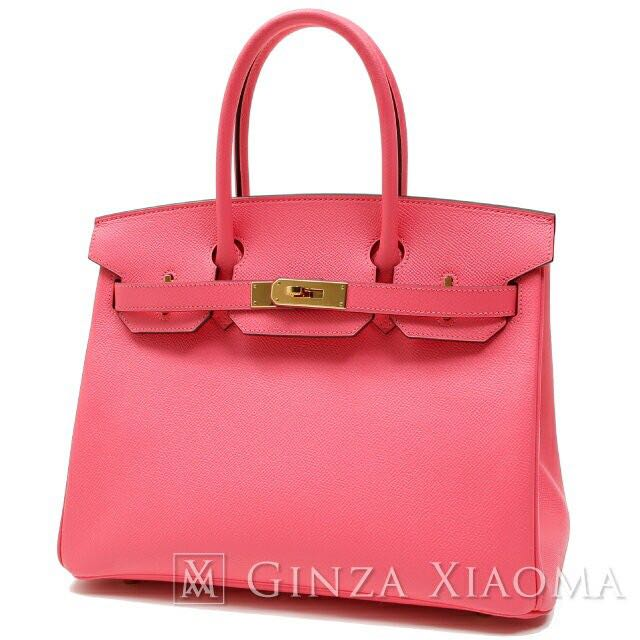 6df40a09403 Like new  HERMES Birkin 30 Epson Rose Azale Gold Hardware A Engraved ...
