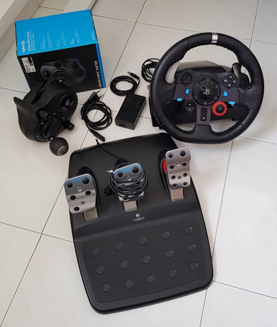 Logitech G29 Wheel + Shifter + (*G27) Pedal Set, Toys